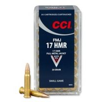 CCI .17 HMR 20 gr. FMJ